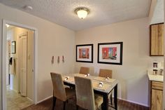 With our kitchen being so open there is great space for a dining table. #SanAntonioApartments #FifthAvenueApts