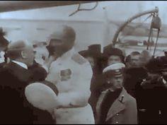 1912, Экспедиция Георгия Седова на Северный полюс. В кадре Архангельск, ...
