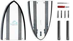 The Carbon Compact is the world's most innovative two piece surfboard system. The compact design disassembles to fit into a small board bag, taking the hassle out of traveling and storing large surfboards.