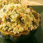 Moroccan-Style Stuffed Acorn Squash. I used wheat couscous to add a little more fiber.