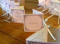 Mini Book Wedding Place Cards/Escort Cards by theBirdandtheBeard, $50.00