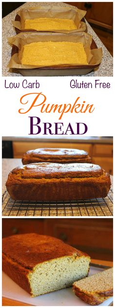 Better Coconut Flour Pumpkin Bread (Gluten-Free) This low carb coconut flour pumpkin bread recipe makes two loaves and uses a full can of pumpkin so you won't have to let leftovers go to waste. Low Carb Deserts, Low Carb Sweets, Gluten Free Pumpkin Bread, Gluten Free Baking, Patisserie Sans Gluten, Desserts Sains, Kouign Amann, Coconut Flour Recipes, Low Carbohydrate Diet