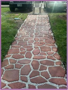 Unordinary Diy Pavement Molds Ideas For Garden Pathway To Try - Garden & Outdoor - Garden Floor Garden Floor, Garden Paving, Garden Paths, Diy Garden, Backyard Projects, Backyard Patio, Home Landscaping, Pavement, Pathways