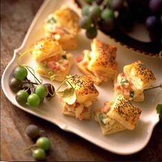 Elegant appetizers that are easy to make using frozen puff pastry sheets.