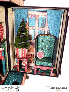 Dicken's Townhouse with Mini Album by the incredible Jim, The Gentleman Crafter #graphic45  http://g45papers.typepad.com/graphic45/2015/11/brilliant-villages-with-a-christmas-carol-.html