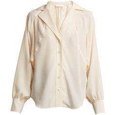 6ad1ab3fc61fe Chloé Open-collar silk crepe de Chine shirt ( 1