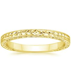 18K Yellow Gold Verona Ring from Brilliant Earth; $825