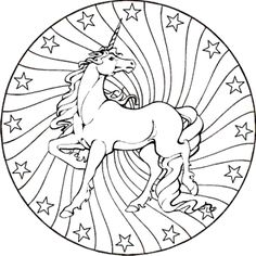 ausmalbilder mandala pferde 03