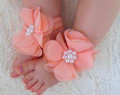 Bebé zapatos, sandalias de bebé descalzo, sandalias, zapatos de recién nacidos, bebé niña zapatos, sandalias de recién nacidos, bebé zapatos niña, zapatos de chica de bebé