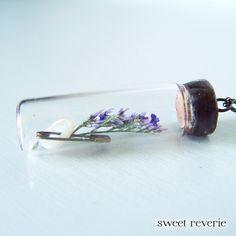 Botanical Glass Vial Specimen Necklace Soldered by asweetreverie