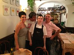 Lizette, thanks for being with us, at Restaurant Piccolo Arancio ... !!!! #Rome