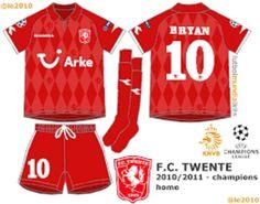 FC Twente home kit for 2010-11.