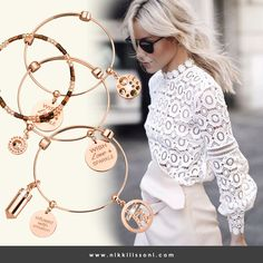 Perfect bangle set for a perfect feminine outfit! -xx– Nikki