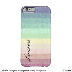 Colourful Designer Monogram Case Barely There iPhone 6 Case