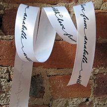 Custom Satin Ribbon:)