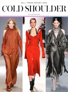Top 12 Trends from Fall 2016 Runway | COLD SHOULDER: Tibi; Proenza Schouler; Zimmermann @stylecaster