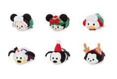 Complete 2017 Christmas Tsum Tsum Set - Mickey, Minnie, Donald, Pluto, Goofy, Figaro