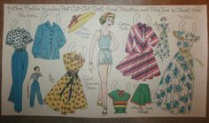 Vintage Antique Boston Sunday Post Newspaper Cut Out Doll Helene Play Time Dress   eBay