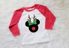 Excited to share this item from my shop: childrens disney christmas shirt minnie mouse reindeer shirt mickey mouse reindeer shirt disney holiday shirt personalized christmas shirt Disney Christmas Shirts, Mickey Christmas, Childrens Christmas, Disney Shirts For Family, Kids Christmas, Shirts For Girls, Disney Family, Family Family, Disney Diy Shirts