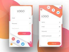 Mobile UI Design - Here is my great Gradient creativity for Application Design. hope you like it. Web Design, Login Design, Layout Design, Flat Design, Icon Design, Mobile Ui Design, Mobile Application Design, Design Websites, Design Thinking
