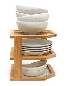 Joss and Main bamboo plate shelf