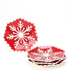 Take a look at this Snowflake Plate - Set of Four by Design Imports on #zulily today!