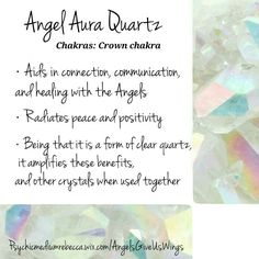 Angel Aura Quartz crystal meaning