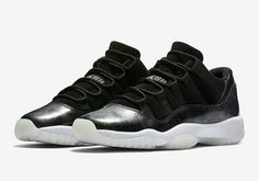 Authentic Cheap Air Jordan 11 Wholesale Authentic Cheap Air Jordan 11 Low  Barons Black Metallic Silver-White Basketball Shoe For Discount 269c6876dd