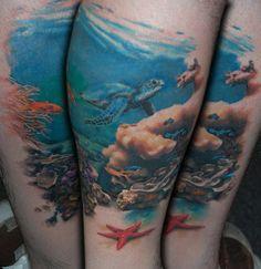 An Underwater Scene by Allen Tattoo, via Flickr