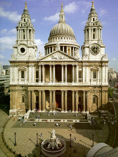 St. Paul's Cathedral in London. Mom & I arrived in London in 1982 the day after Prince William was christened. I made a point of walking down the center aisle of the cathedral just like his mother had a year earlier. This was back when we could still believe that fairy tales came true.
