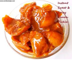 Instant Sweet Spicy Lemon Pickle Recipe