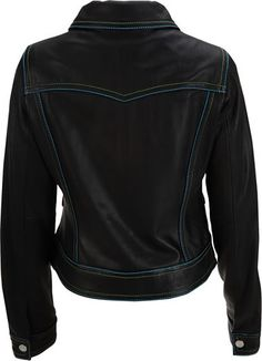 Womens leather jacket custom made style 1085NL back image