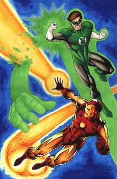 Green Lantern and Iron Man face off in this edition of JLA vs Avengers