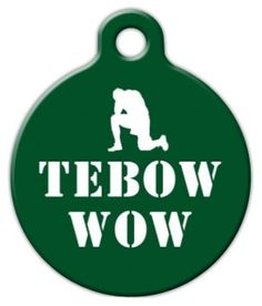 Tebow has been doing so well, even your dog wants to show support. Show your Jet's pride with this Tebow inspired tag.Each of our pet ID tags are designed and illustrated by artists from all over the globe, and printed with affection and care in the mountains of North Carolina. They are ultra-durable and are guaranteed to always be legible.