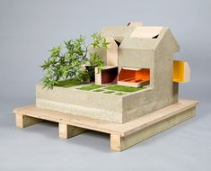 dolls' houses by designers, architects and artists With Bonsai to the side.....interesting!