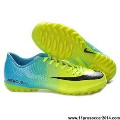 Buy Cheap Green Blue Black Nike Mercurial Vapor IX TF Basketball Shoes Shop