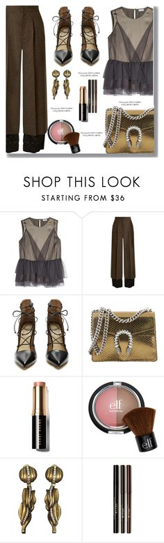 """""""Formal"""" by drigomes ❤ liked on Polyvore featuring Brunello Cucinelli, Maison Margiela, Francesco Russo, Gucci and Bobbi Brown Cosmetics"""