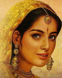 Each time I met her I couldnt help spending a few moments admiring her beauty Her personality always left me enchanted Today was no different Her simple pastelshaded salw. Indian Women Painting, Indian Art Paintings, Art Sketches, Art Drawings, Rajasthani Painting, Pencil Sketch Drawing, India Art, Krishna Art, Woman Painting