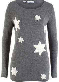Mit dem weichen Material ist dieser Pullover ein absolutes Lieblingsteil für kalte Tage. Hübsch wirken die flauschigen Sternenpatches, die sich über den ganzen Pullover verteilen.