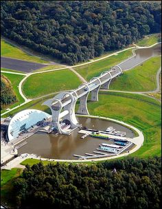 Falkirk, Scotland, The Falkirk Wheel This lifts boats from one canal to another higher canal