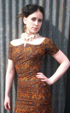upcycled vintage 70s AFRICAN PRINT dress by by sweetrocket99, $75.00