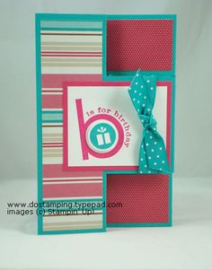 Tri-Fold Shutter Card & Party Hearty - DOstamping with Dawn, Stampin' Up! Demonstrator