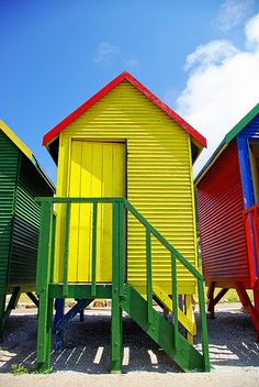 beach huts Cape Town had them in SC too-loved them :) Beach Shack, Beach Huts, Beach Cabana, Le Cap, Cape Town South Africa, Out Of Africa, Most Beautiful Cities, World Of Color, Beach Cottages
