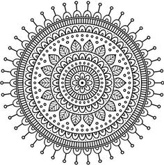 "Buy the royalty-free Stock vector ""Ornament beautiful card with mandala. Mandala Doodle, Easy Mandala Drawing, Mandala Art Lesson, Doodle Art Drawing, Mandala Artwork, Mandala Painting, Art Drawings, Mandala Making, Mandala Sketch"