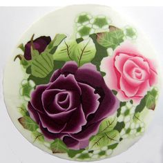 Complex and rich big polymer clay flowers cane   by tamishvat