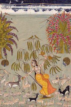"""Todi Ragini"". Raghugarh, c.1750.: https://uk.pinterest.com/tt_38/india-art/"