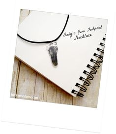 Baby's Own Footprint Necklace