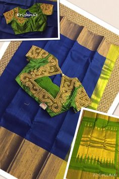 Silk Sarees with Designer Blouses – Traditional silk sarees paired with designer blouses by krishna's Boutique. (Available for purchase in USA) For inquiries contact: Email id : Silk Saree Blouse Designs, Saree Blouse Patterns, Sari Blouse, Indian Silk Sarees, Indian Blouse, Ethnic Sarees, Traditional Silk Saree, Traditional Outfits, Indian Attire