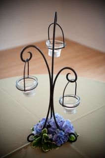 wrought iron hanging candle centerpiece-EXACTLY