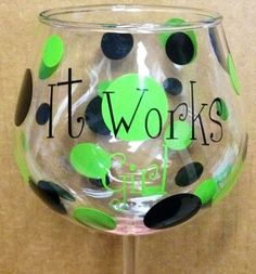 ItWorks Hand Painted Wine Glass MUST BUY!!